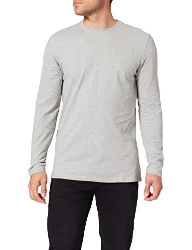 Springfield Camiseta Manga Larga, Gris Medio, XL para Hombre