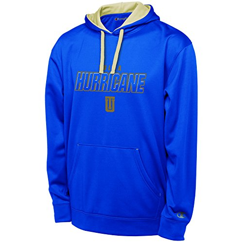 Champion Adult NCAA Men's T-Formation Pullover Hood with Applique, Blue, Large, Tulsa Golden Hurricane