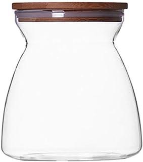 Organisateur De Cuisine Réservoir De Stockage De Grain Boîte Scellée par Nourriture Boîte De Rangement en Verre Transparen...