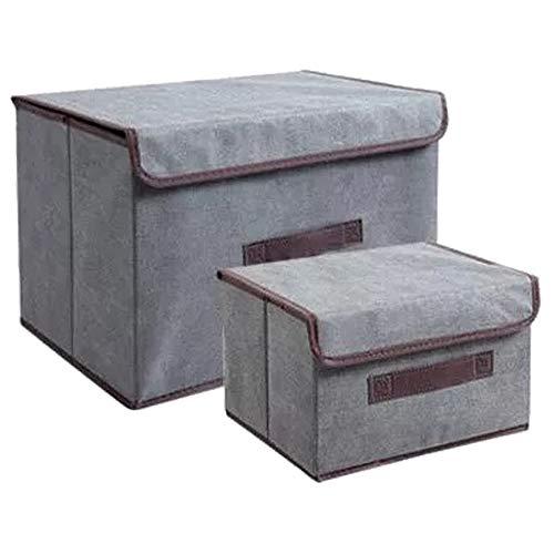 Scatole per abiti set da 2 - sacchetti di conservazione in 3 modelli (Grigio)