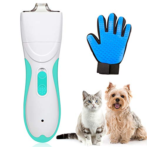 Pet Grooming Clipper Washable Pet Clippers USB Rechargeable Low Noise Electric Pet Trimmer