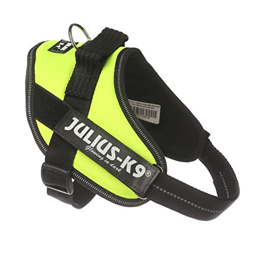 Julius-K9, 16IDC-FNE-M, IDC-Powergeschirr, Hundegeschirr, Größe: Mini, UV neon grün