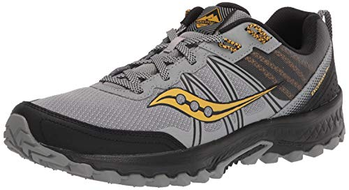 Saucony Men's Excursion TR14 Trail Running Shoe, Grey/Gold, 10