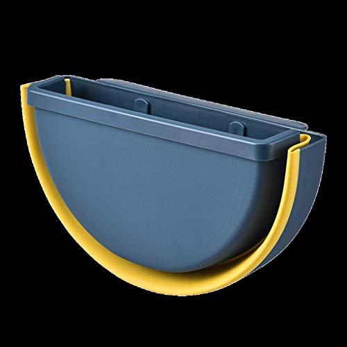 Trash can Indoor Mülltonnenküche Faltbare Papierkorb, kompakter Hängende Mülleimer Kann for Küchenbedingung montiert (Color : Brown)
