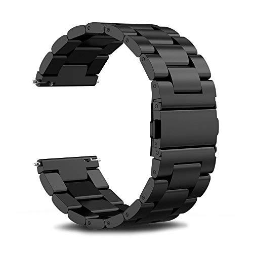 REDCVBN Correa de Reloj Compatible para Samsung Gear S2 Classic S3 Frontier Bandas de Reloj Inteligente 20 mm 22 mm Banda de Reloj Acero Inoxidable Correas Deportivas de Metal Pulsera de Reloj