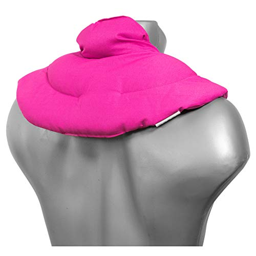 Cuscino del collo, rosa. Cuscino termico con noccioli di ciliegia, terapia caldo e freddo.