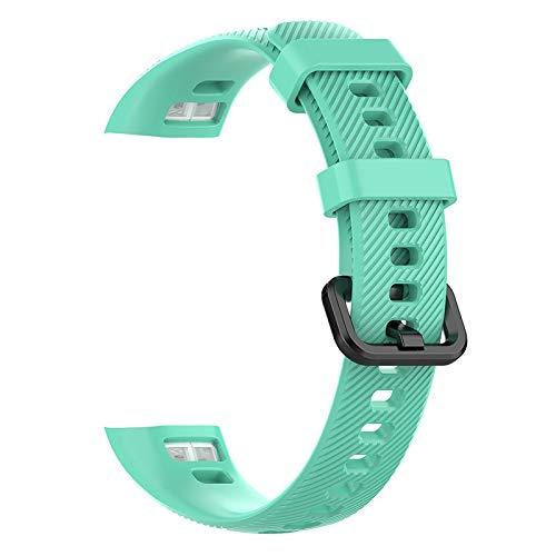 ZZKHFA Laforuta Honor Band 5 Correa de silicona para Huawei Honor Band 4 Mujeres Hombres Pulsera Fitness Loop Smart Watch Correa de muñeca (color de la correa: pato acuático)