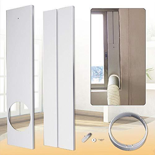 Lai-LYQ Draagbare Air Conditioner Raamplaat Kit, Telescopische PVC Raamafdichting Beugel Board voor 15cm Slang Mobiele Airco