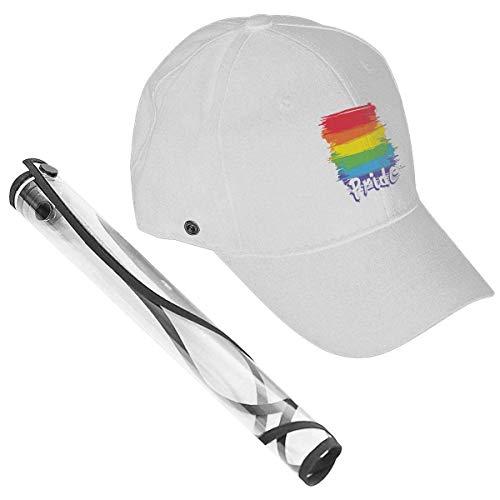Perilla Fire Gay Pride LGBT - Gorra de béisbol con bandera de los derechos del arco iris