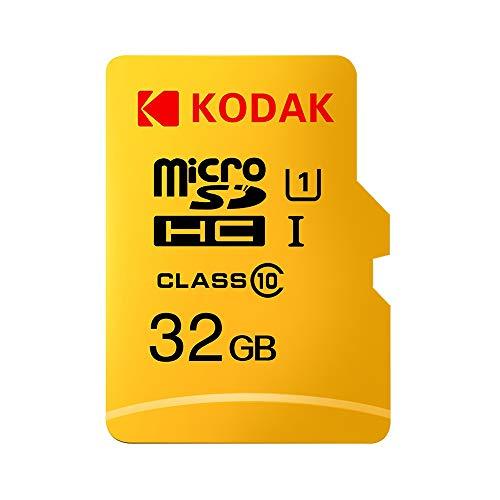 Kodak Tarjeta Micro SD Tarjeta de Memoria TF, Class10, U1 Velocidad rápida, Resistente al Agua (32GB)