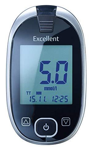 GlucoCheck Excellent Starter-Set (mmol/l) mit 60 Teststreifen