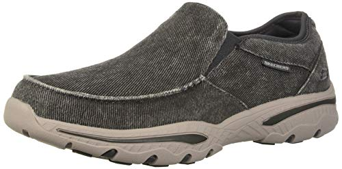 Skechers Men's Relaxed Fit-Creston-Moseco Moccasin, Charcoal, 9.5 M US