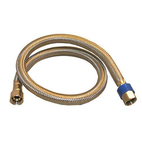 LASCO 10-0960 24-Inch Dishwasher Water Supply Line, Braided Stainless Steel, X 3/8-Inch Femal Compression, 1-Pack, Assorted