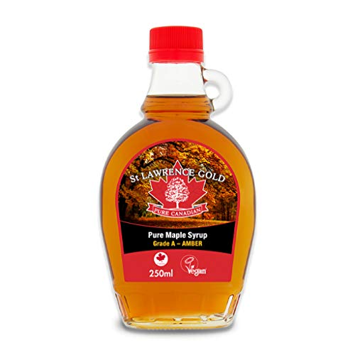 St Lawrence Gold Canadian Maple Syrup, Grade A Amber, Rich Taste, 250ml