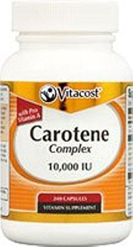 Vitacost Carotene Complex with Pro Vitamin A - 10,000 IU - 240 Capsules