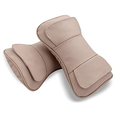 HNGM Reposacabezas de coche Almohada del reposacabezas del asiento del coche almohada del reposacabezas del cuello del cuello del coche del coche PÁGINAS Accesorios de asiento de algodón Estilo de aut