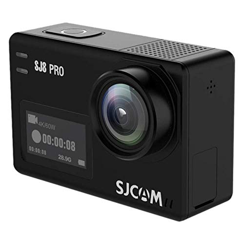 SJCAM SJ8 Pro Digital Action Camera with Touchscreen 60fps 4k Ultra Full HD EIS Stabilized Raw Image 1200mAh High Capacity Battery 5G WiFi Sports CAM (E-Commerce Packaging)