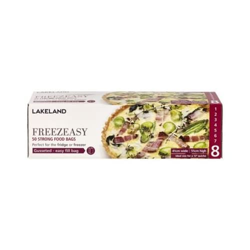 Lakeland Freezeasy Food Freezer Bags, Gusseted, 41 x 51cm, Pack of 50