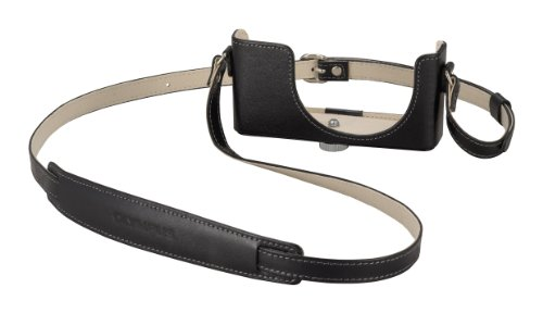 Olympus CSCH-97 Kameratasche (Leder) für XZ-1 schwarz