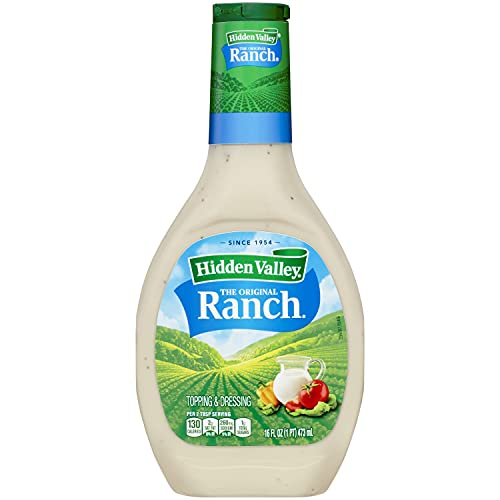 Hidden Valley Original Ranch Dressing, 16 Fluid Ounce Bottle (Pack of 6)