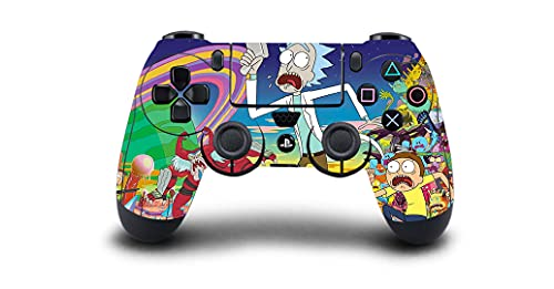 PS4 Controller Vinyl Sticker Decal Skin Wrap Scratch Protection - Rick & Morty - PlayStation 4 Controller