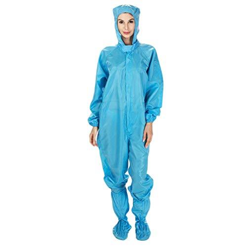 Antistatische Overall,Arbeitskleidung,Körperschutzanzüge,Arbeitsschutz Statische Schutzkleidung,Blau,L
