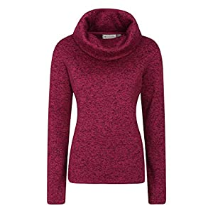 Anti Pill Soft Mountain Warehouse Idris Womens Full Zip Womens Fleece Soft Touch Spring Fleece Thermal Lined Sweater Lightweight Vest Perfect to Wear As A Layer