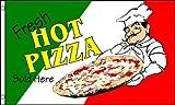 AZ FLAG Flagge WARME Pizza 150x90cm - Pizza Fahne 90 x 150 cm - flaggen Top Qualität