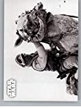 2019 Topps Star Wars Empire Strikes Back Black and White #2 Checking in with Han Luke Skywalker Tauntaun Trading Card
