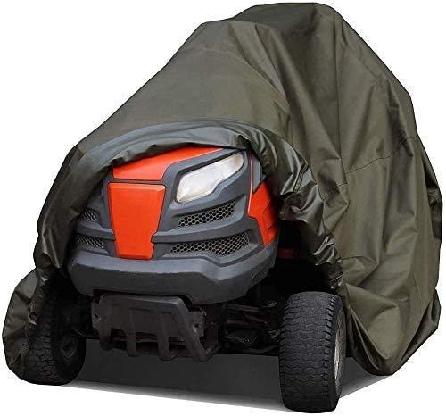 CRMY Rasenmäherabdeckung, wasserfeste Abdeckung für Aufsitz-Gartentraktor, wasserdichte Hochleistungs-UV-Schutz-Traktorabdeckungen, grün