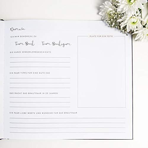 """JO & JUDY Hochzeitsgästebuch """"Our Wedding"""" mit Fragen zum Ausfüllen - 3"""