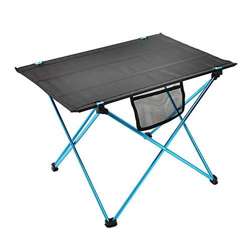 LJJOO De aluminio que acampa plegable de mesa, de peso ligero al aire libre de mesa, escritorio portable que acampa impermeable for la pesca de la comida campestre que acampa yendo de viaje barbacoa e