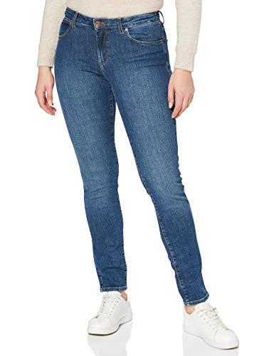 Wrangler Jeans Slim, Blu (Dark Cloud 36e), 33W / 32L Donna