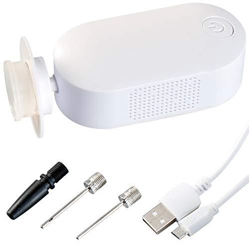 Rosenstein & Söhne Ballpumpe: USB Akku-Vakuumpumpe HVC-15 zum Vakuumieren mit 4 Aufsätzen (Elektrischer Hand Vakuumierer)