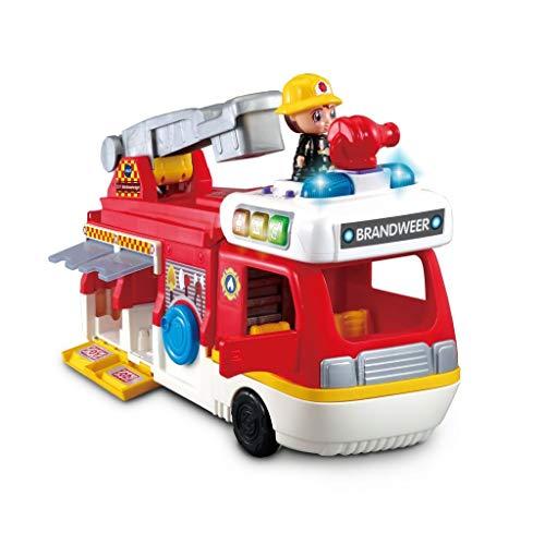VTech Vrolijke Vriendjes 2in1 Brandweerwagen + Licht en Geluid