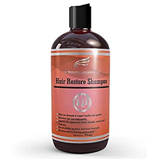 Hair Restoration Laboratories Hair Restore Shampoo, DHT Blocker to Prevent Hair Loss, Sulfate-Free for Color Treated Hair, Effective Daily Use Hair Thickening Thinning Hair for Men and Women, 16 oz (B07MBTYPTH) | Amazon price tracker / tracking, Amazon price history charts, Amazon price watches, Amazon price drop alerts