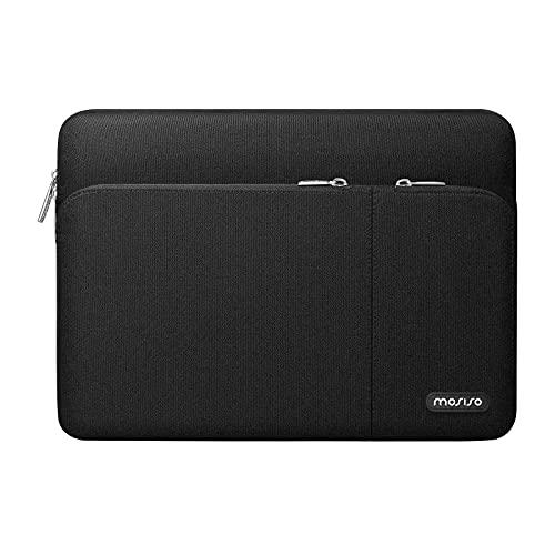 MOSISO 360 Funda Protectora Compatible con MacBook Pro 16 Pulgadas,  15 15, 4 15, 6 Pulgadas DELL HP Acer Samsung Chromebook,  Bolsa Blanda de Poliéster con 2 Bolsillos Delanteros Organizadores Separados