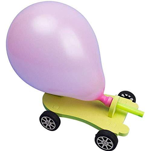 sdgfd Luftballon-Auto, DIY Handmade Montage Spaß Lernspielzeug Wissenschaft Experimente Kit Für Vorschulerziehung Spielzeug für Kinder