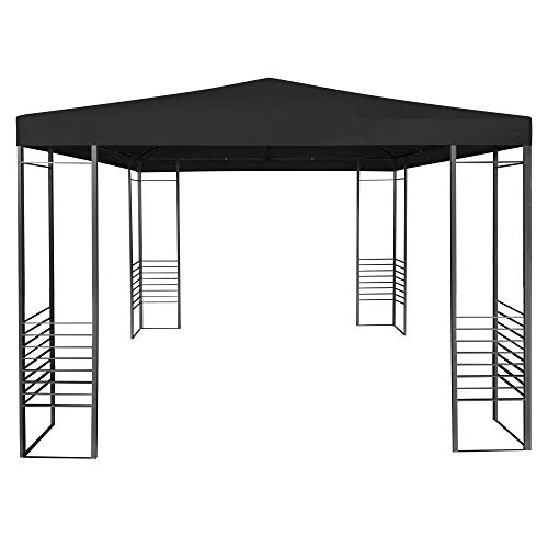 URBNLIVING Large Black Outdoor Pop Up Gazebo Event Tent Party Tent For Special Occasions