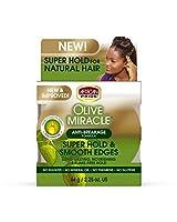 African Pride オリーブミラクル絹のような滑らかなエッジ2.25オンス(66Ml)(3パック)