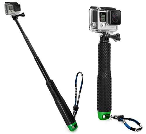 MyGadget Selfie Stick GoPro Palo de Selfie - Monopod Flexible y Extensible - Extensión Ajustable para Cámaras GoPro Hero/Sony Action CAM – Verde