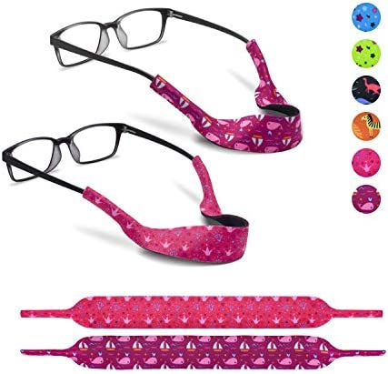 2 Eyeglass Strap for Kids by SQV Elastic Neoprene Lanyard Sports Safety Eye Glasses Cord Holder product image