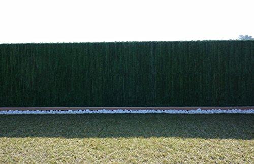PEGANE Haie Artificielle 126 Ultra brins en PVC Coloris Vert foncé - Dim : 1,80 m x 3 m
