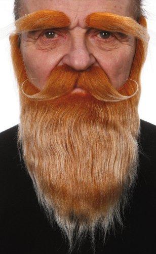 Generique - Barbe, Moustache et Sourcils Roux Adulte