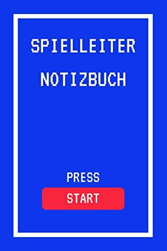 Spielleiter Notizbuch Press Start: A5 (6x9