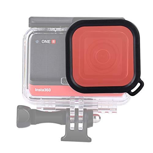 NANSHAN   CAMERAACCESSORIES Filtro de Color de Buceo Cuadrado para insta360 una versión R 4K / 1 Pulgada (Color : Rojo)