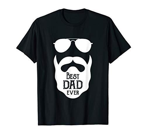 Bester Papa T-Shirt für Bartträger zum Herrentag T-Shirt