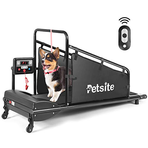Goplus Dog Treadmill, Pet Running Machine for Small/Medium-Sized Dogs Indoor Exercise, Pet Fitness Equipment with Remote Control and 1.4'' Display...