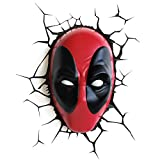 3DLIGHTFX Marvel Deadpool Lampe, 2002331, Rouge/Noir