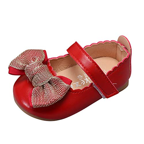YGbuy Zapatos de Princesa con Suelas Suaves Verano Zapatos para Bebé Niñas Zapatos de Primeros Pasos Antideslizante Breathable Suela Blanda Princesa Calzado Casual Zapatos de Niñito de 20-30 EU